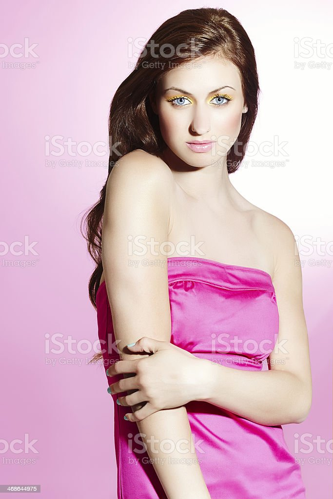 Model In Pink royalty-free stock photo