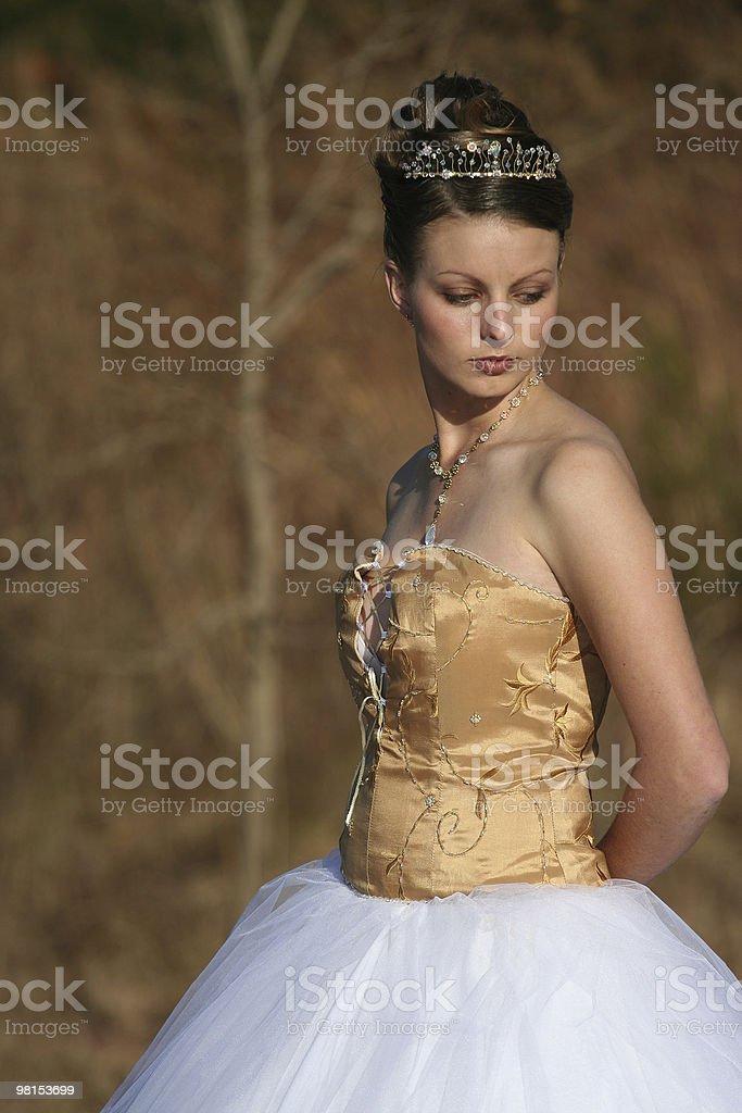 Model in wedding dress royalty-free stock photo