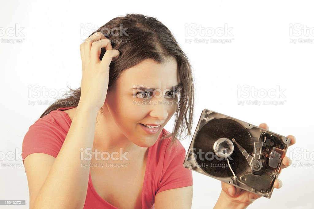 Model Is Puzzled royalty-free stock photo