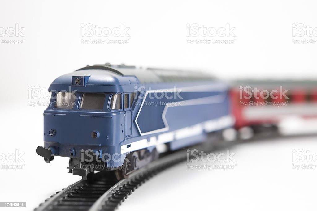 model locomotive stock photo