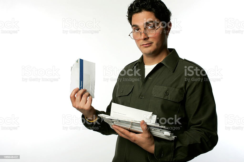 model mail stack royalty-free stock photo