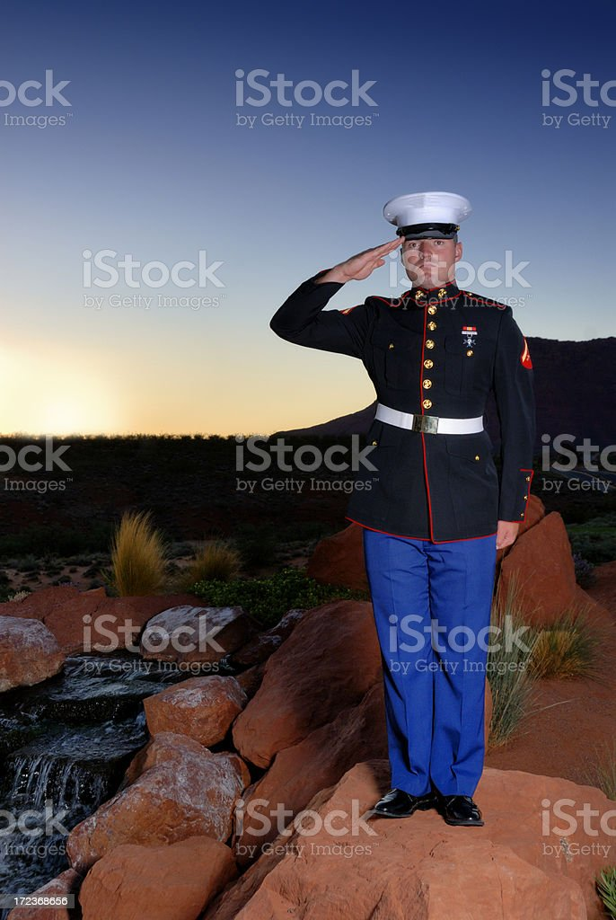 Model Marine - Semper Fi stock photo