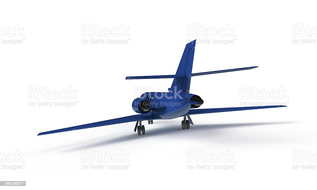 model of a blue airplane isolated on white royalty-free stock photo