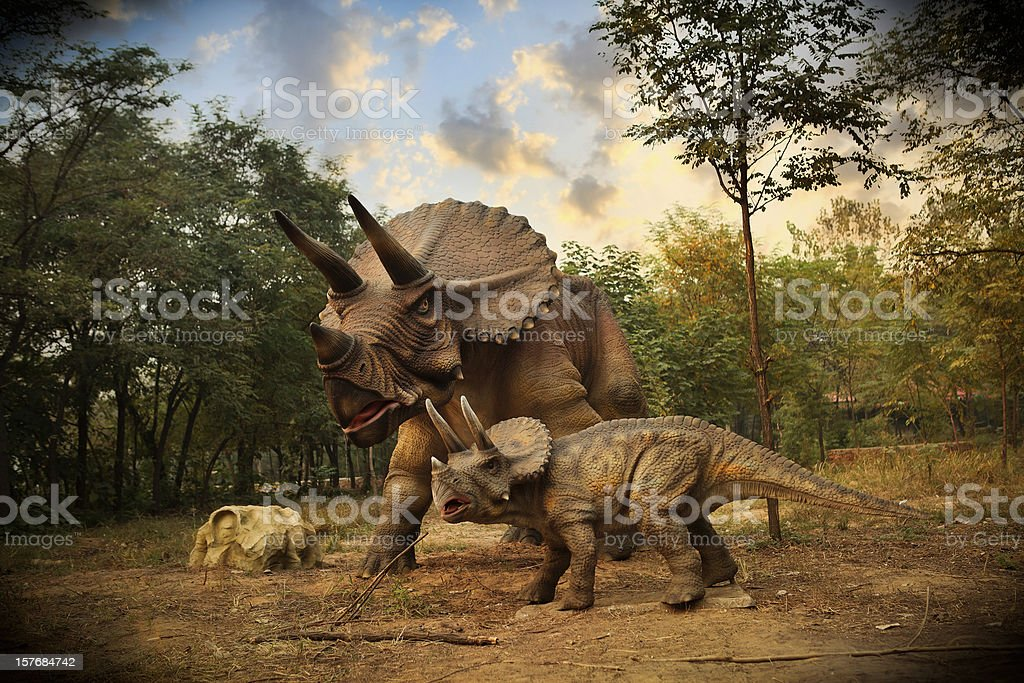 Model of a Dinosaur Park stock photo