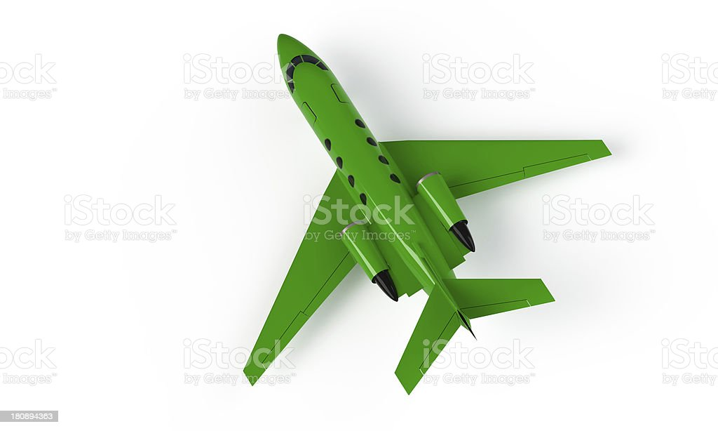 model of a green airplane isolated on white royalty-free stock photo