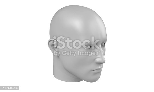 499664303istockphoto model of a humane head isolated on white 517416702