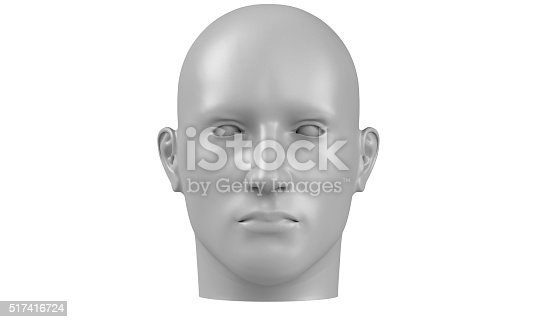 499664303istockphoto model of a humane head isolated on white 517416724