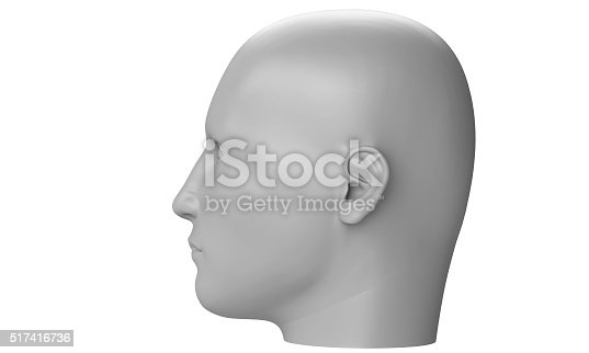 499664303istockphoto model of a humane head isolated on white 517416736