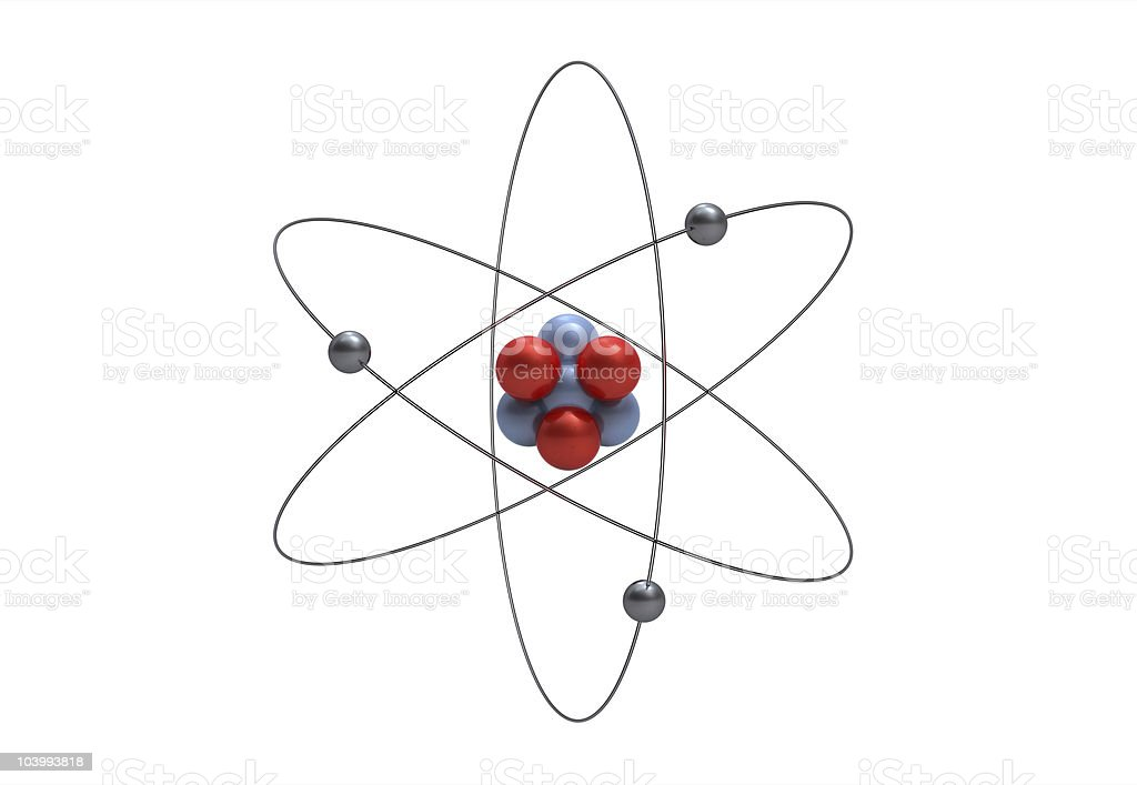 Model of a lithium atom stock photo