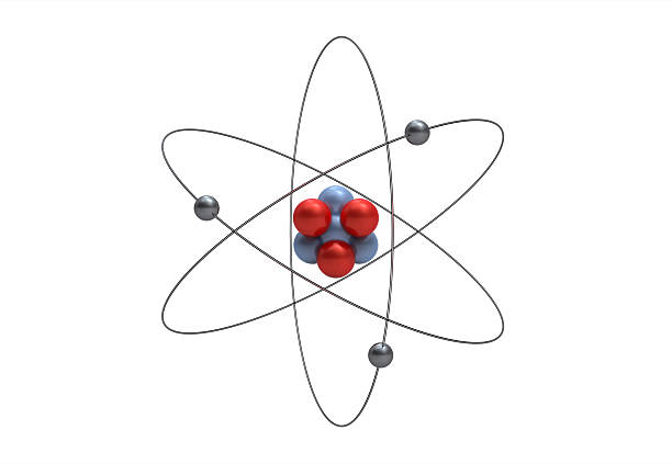 Model of a lithium atom stock photo