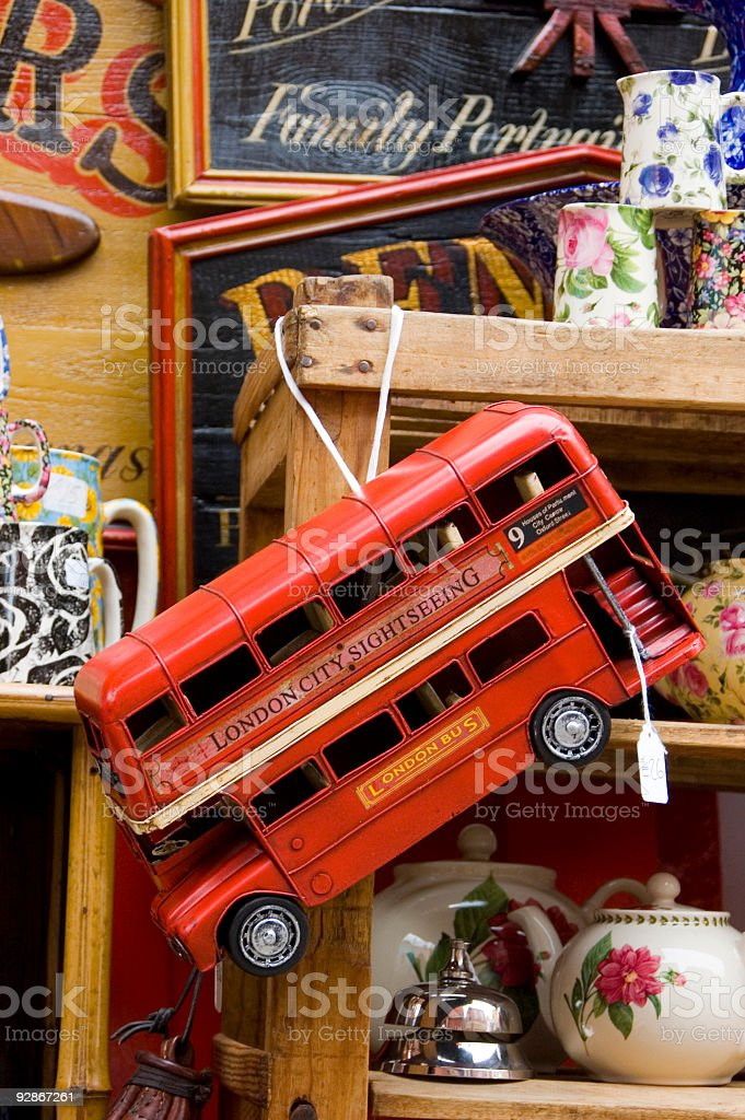 Model of a London Bus stock photo