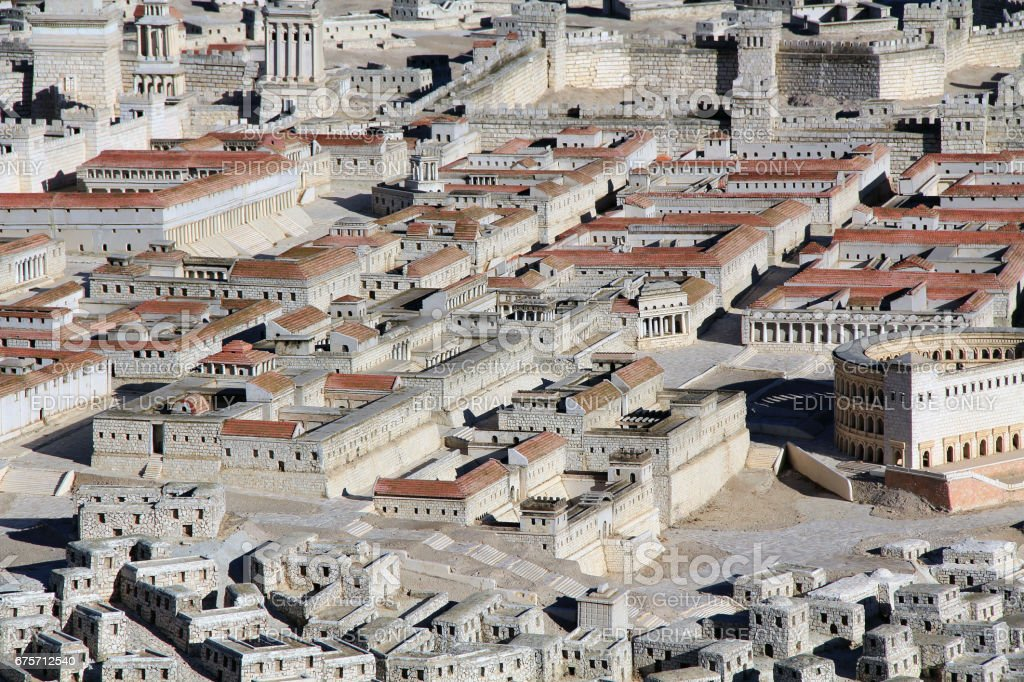 Model of Ancient Jerusalem and the Lower City 免版稅 stock photo