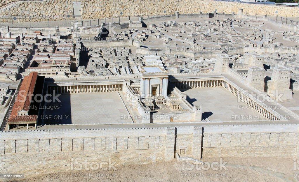 古耶路撒冷寺山模式 免版稅 stock photo