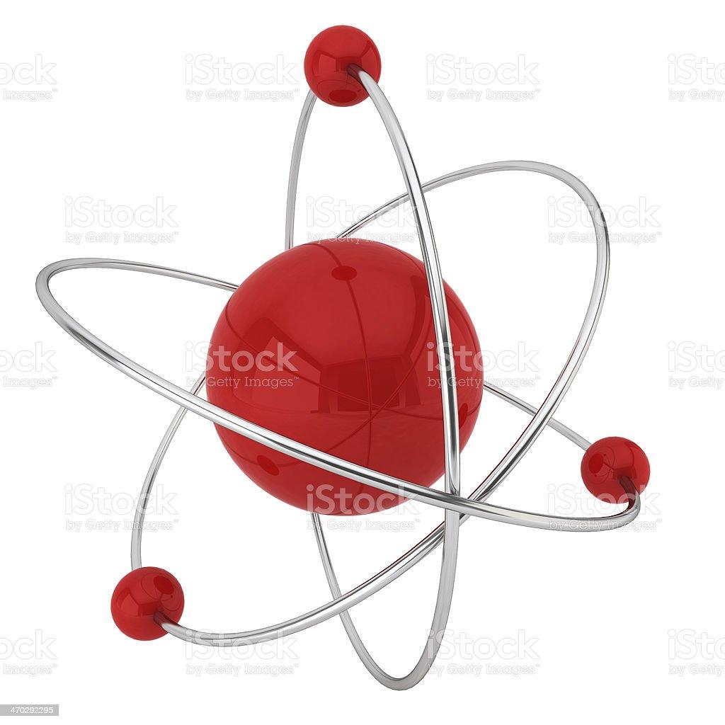 Model of atom royalty-free stock photo