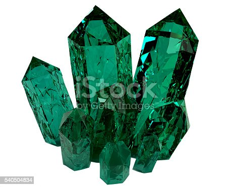 istock 3D model of crystals 540504834