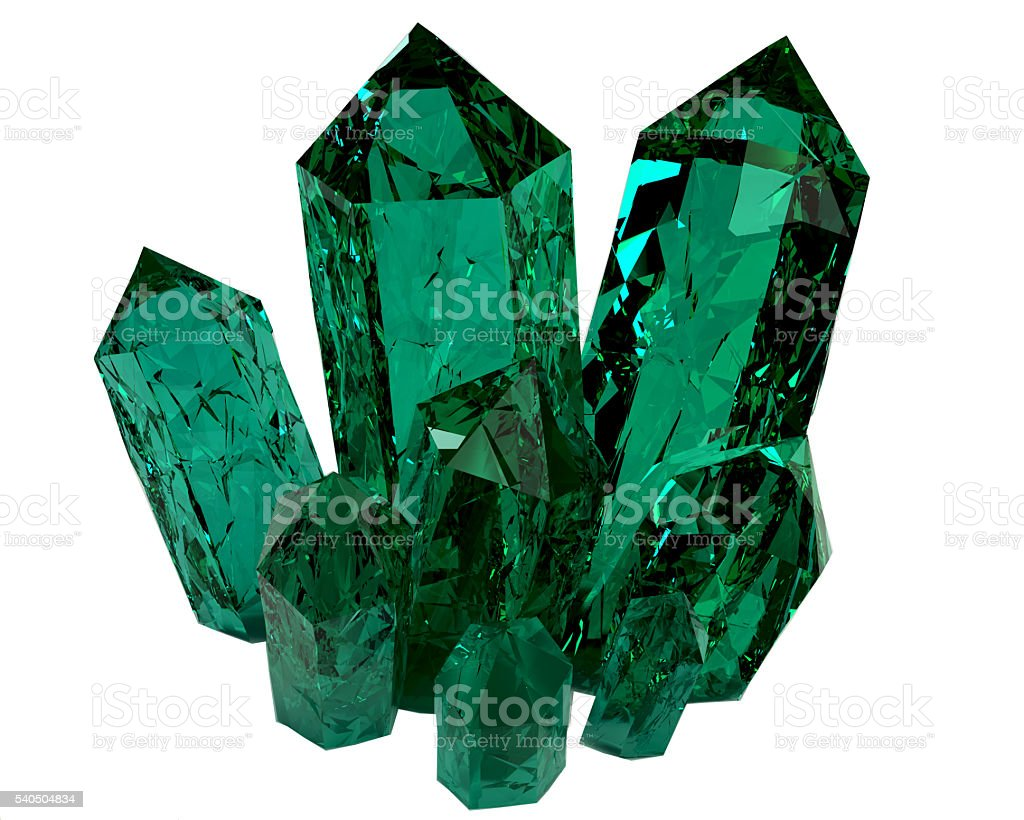 3D model of crystals stock photo