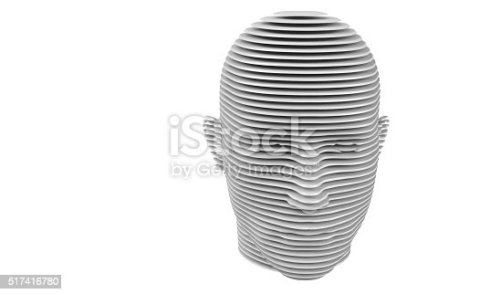 499664303istockphoto model of cut a humane head isolated on white 517416780