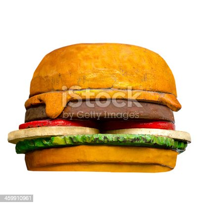 1156991909 istock photo Model of hamburger isolated on white background 459910961