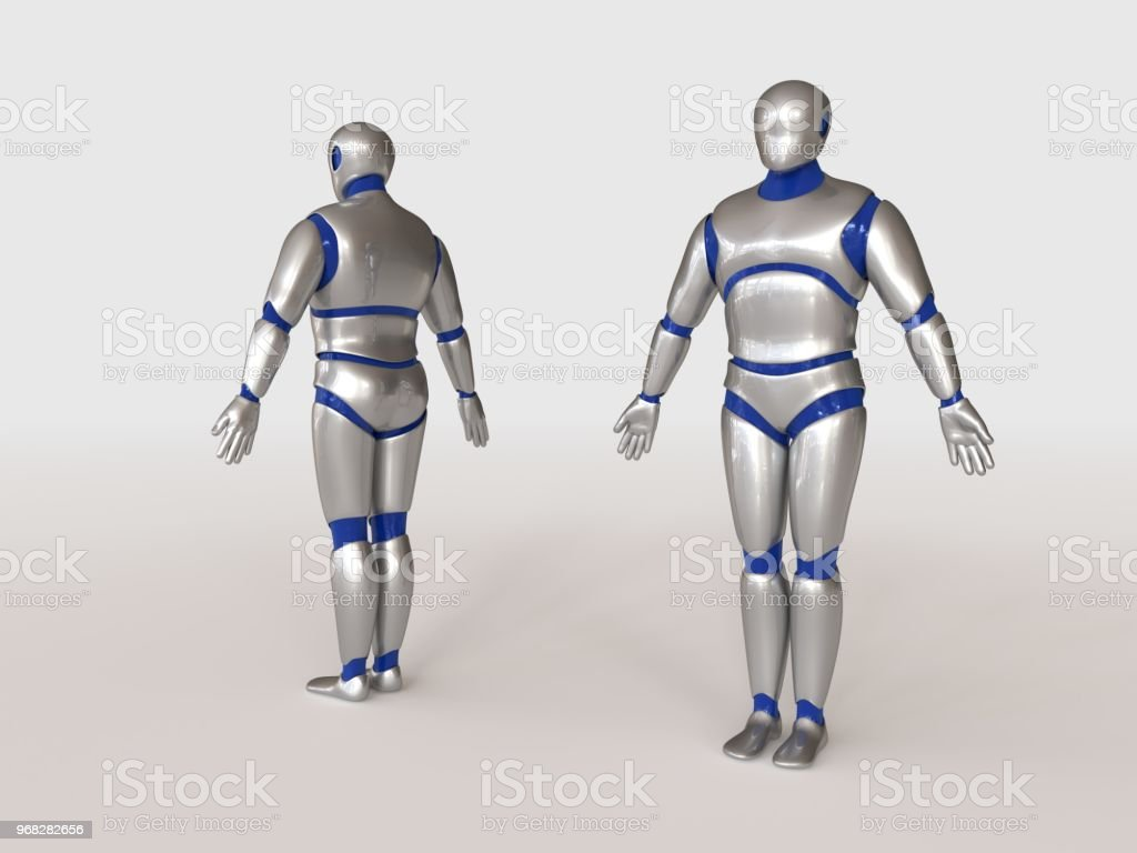 3d Model Of Humanoid Robot Stock Photo - Download Image Now