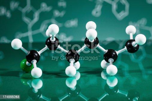 istock Model of molecular structure 174555283