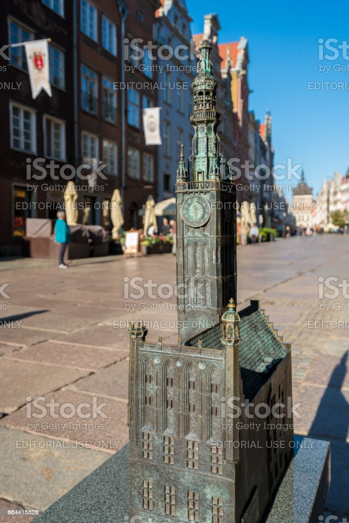Model of Old Main Town Hall in Gdansk, Poland stock photo