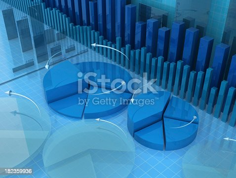 istock A 3D model of pie and bar graphs 182359936