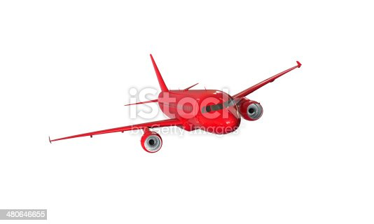 istock model of red airplane isolated on white 480646655