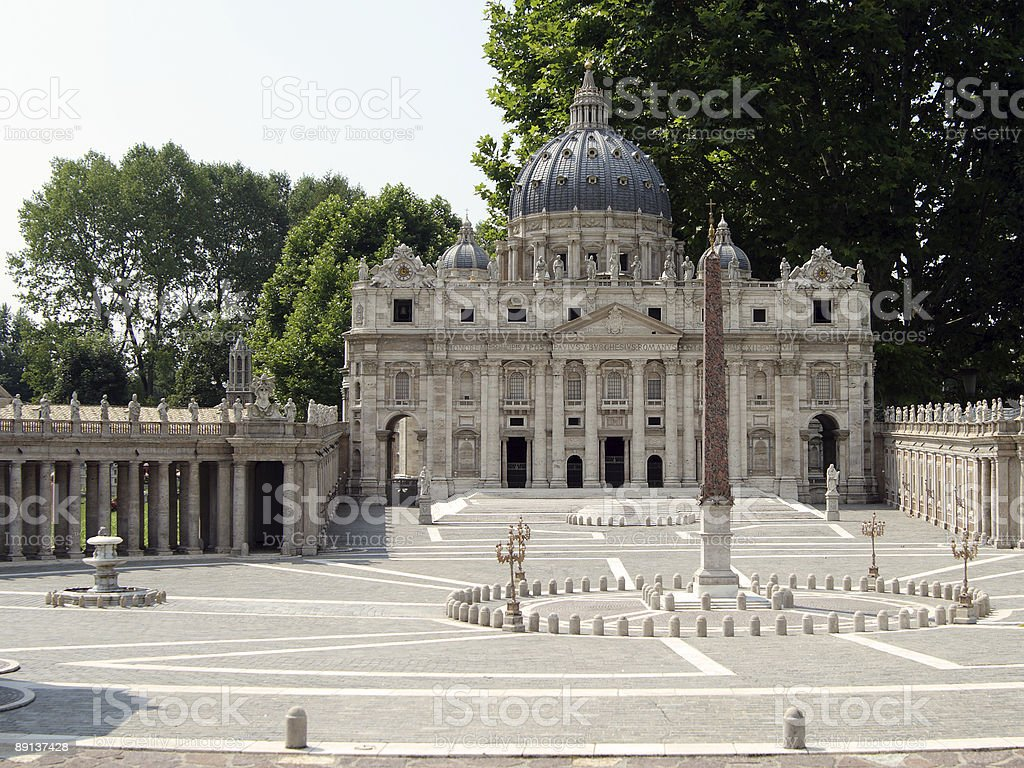 Model of Saint Peter's Basilica stock photo