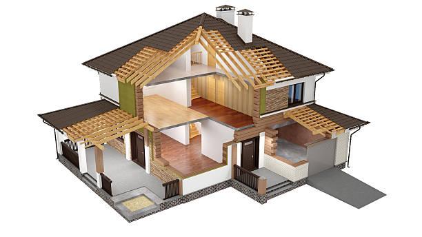 3 D Modell der Scheiben house – Foto