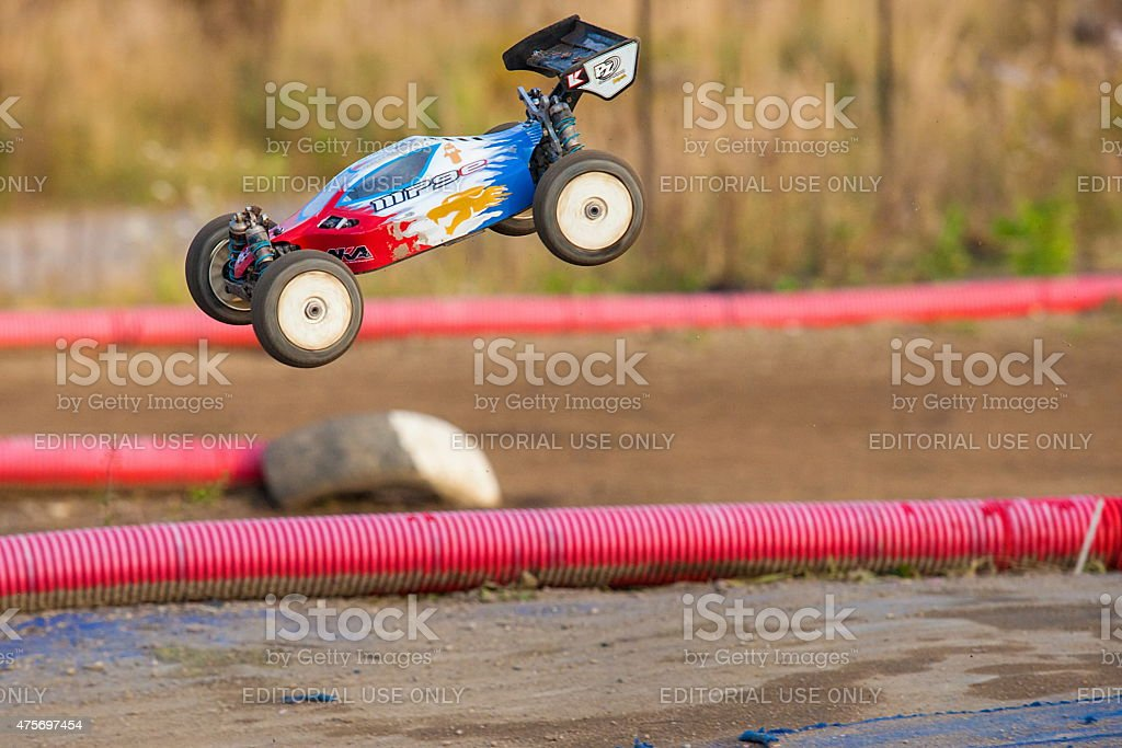 RC model of sport rally car stock photo
