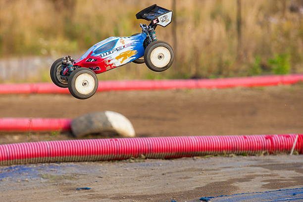 rc modell des sports rally car - modellbahnanlagen stock-fotos und bilder