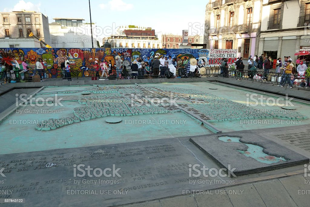 Model of Tenochtitlan stock photo