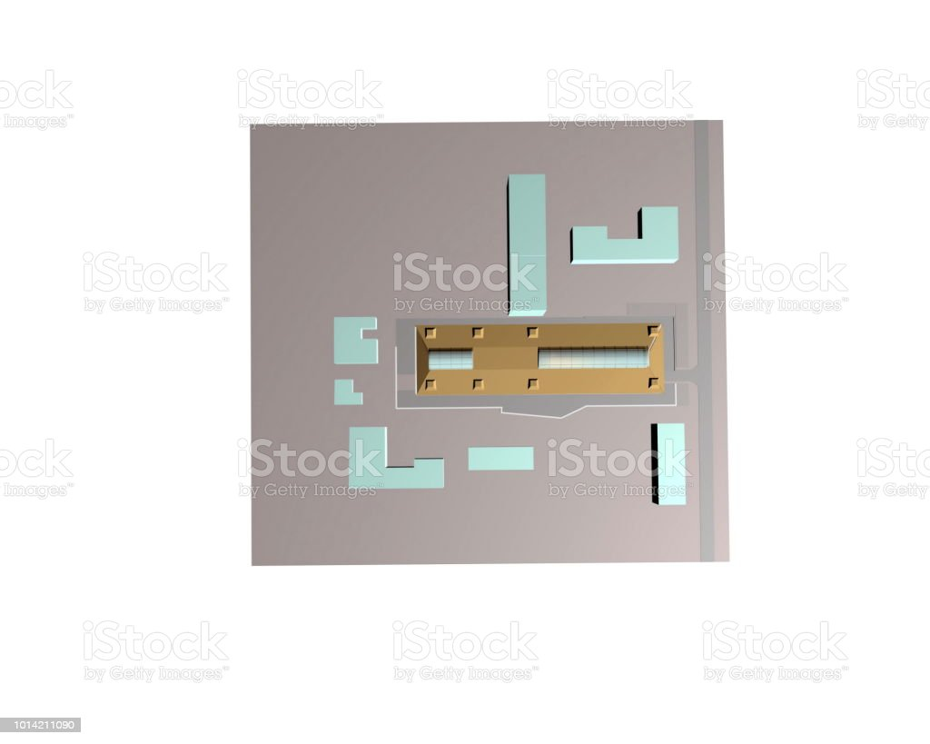 Model of the architectural design stock photo