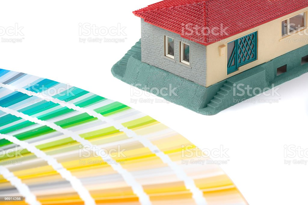 model of the house to be decorated royalty-free stock photo