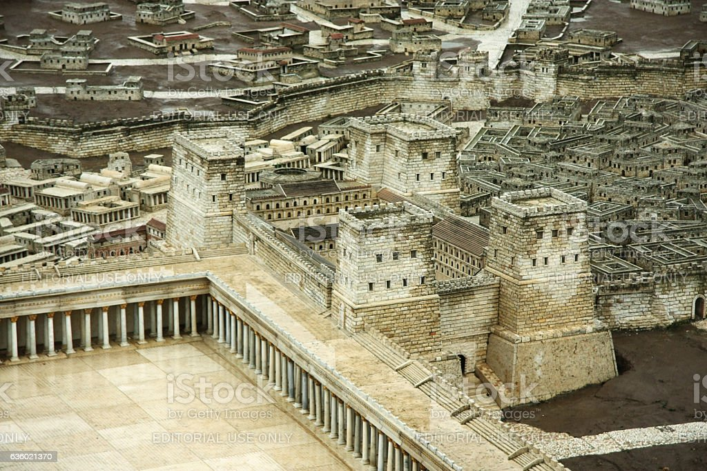 Model of the Second Temple. Anthony tower stock photo