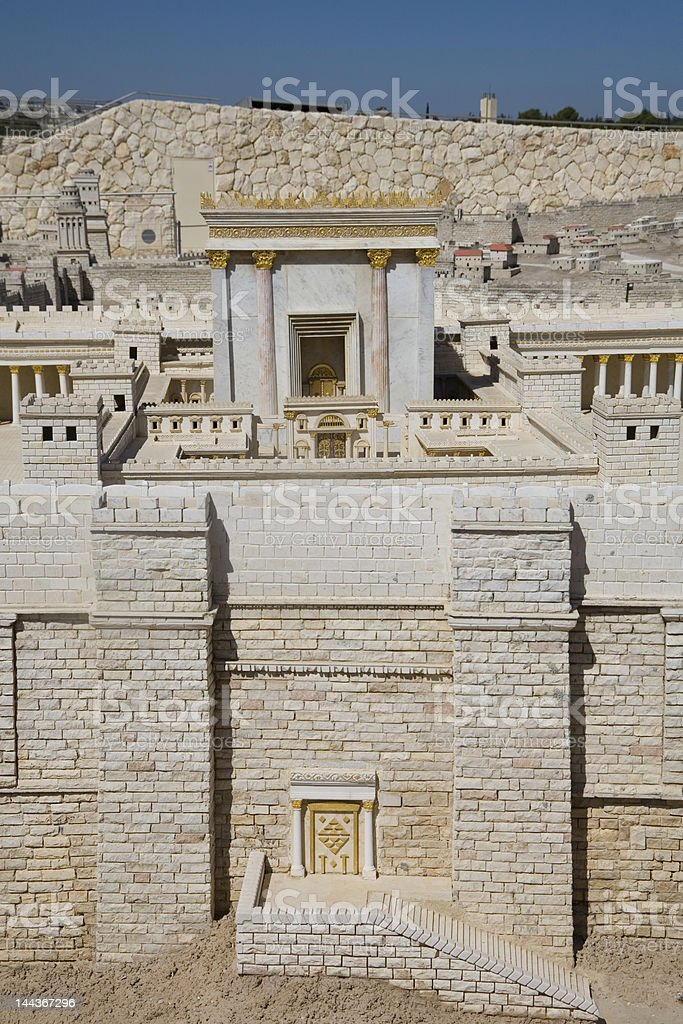 Model of the Second Temple, Israel Museum stock photo