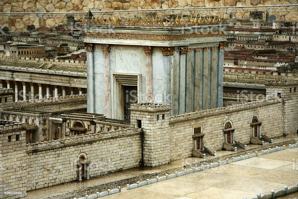 Model of the Second Temple. stock photo