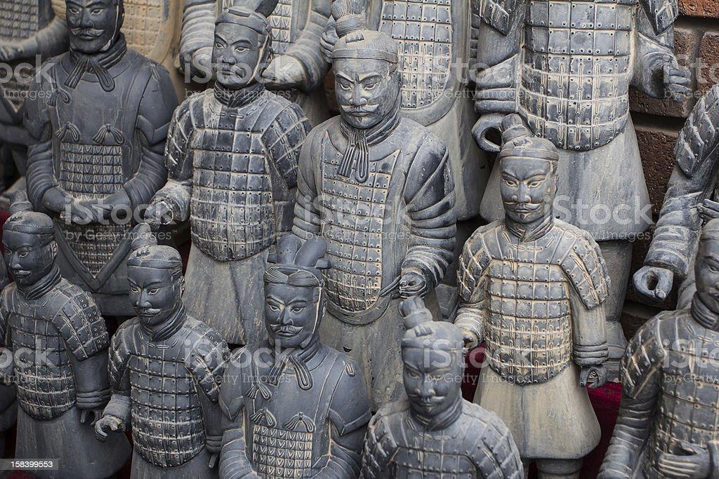 model of the Terra Cotta Warriors royalty-free stock photo