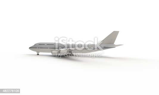 istock model of white airplane isolated 482278105