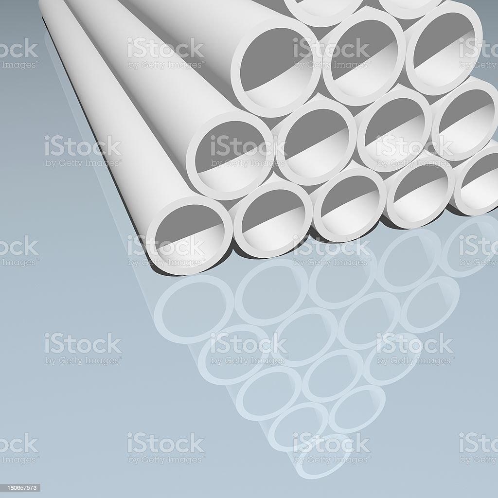 3D model pipe background royalty-free stock photo