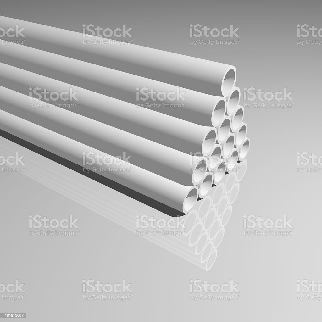 3D model pipe background stock photo