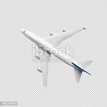 istock Model plane,airplane mock up.clipping path 982238930