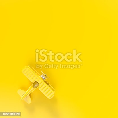 istock Model plane,airplane toy minimal concept 1058180350