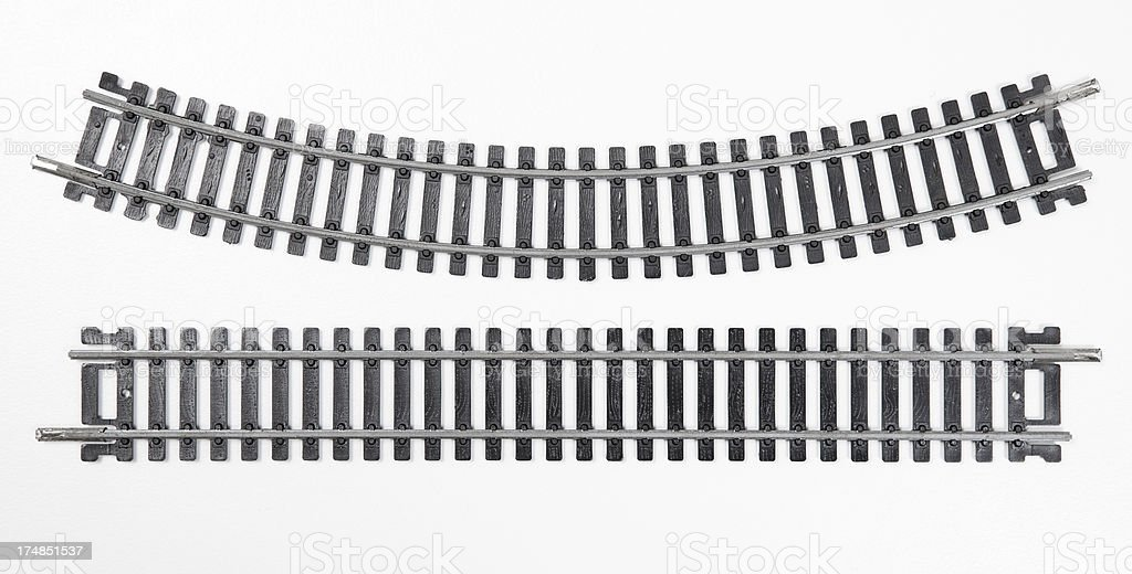 model railroad tracks stock photo