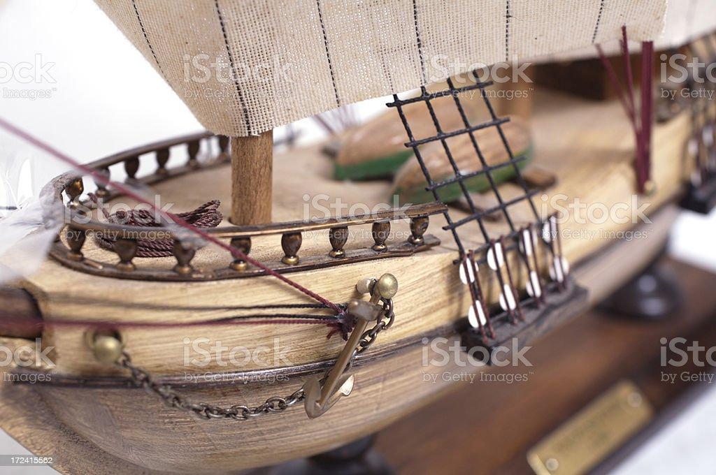 Model ship detail stock photo