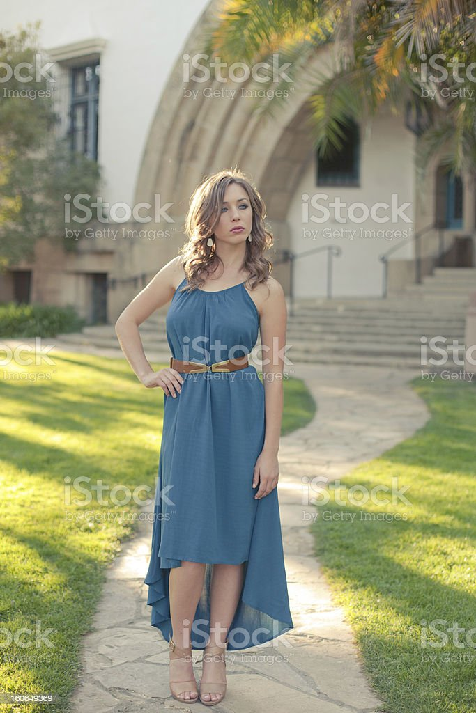 Model Standing in Path royalty-free stock photo