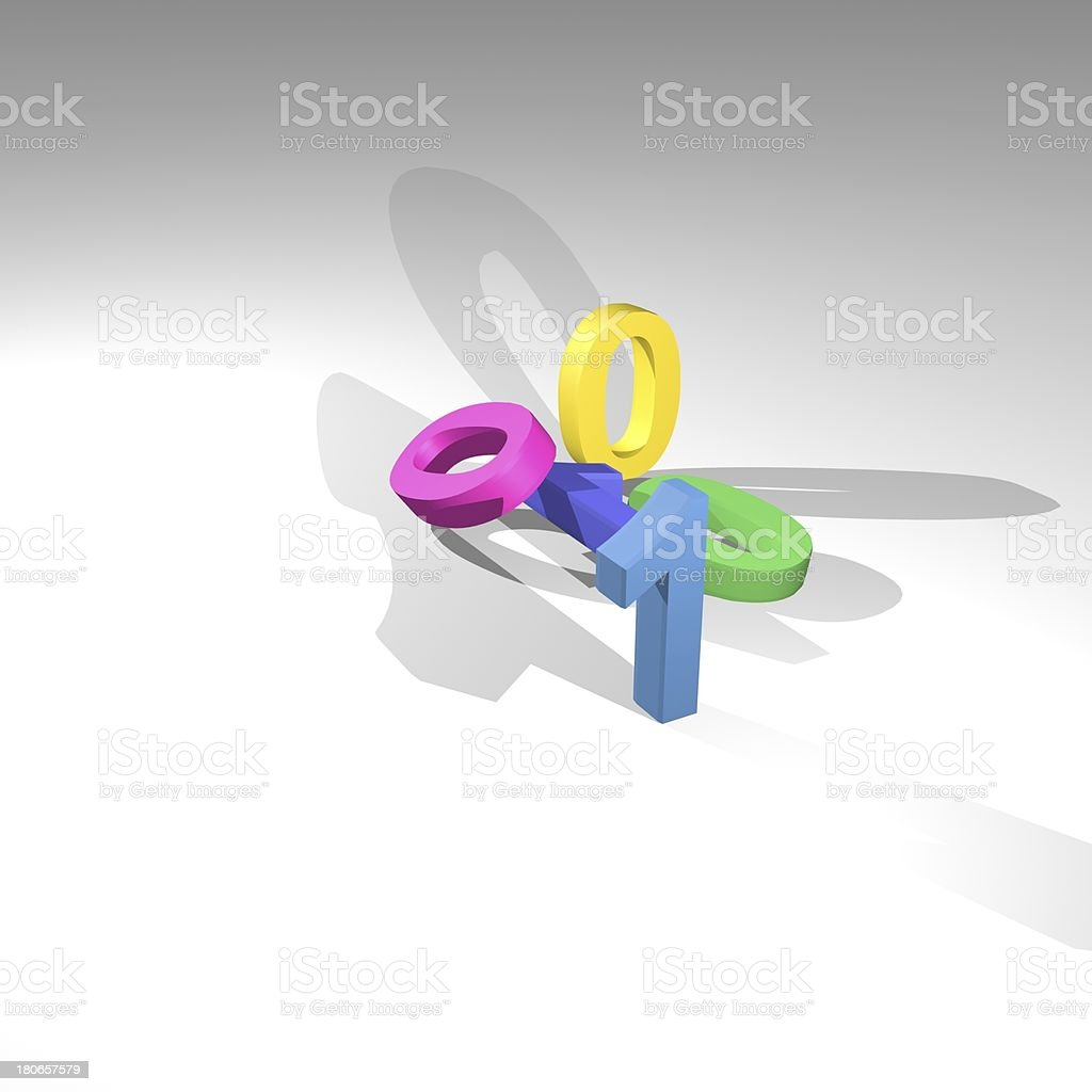 3D model technology concept background royalty-free stock photo