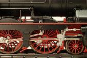 A close-up view of an H0 gauge model train.