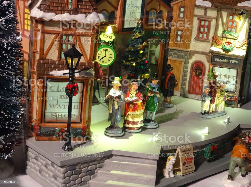 Model Victorian Dickens Christmas Village With Miniature