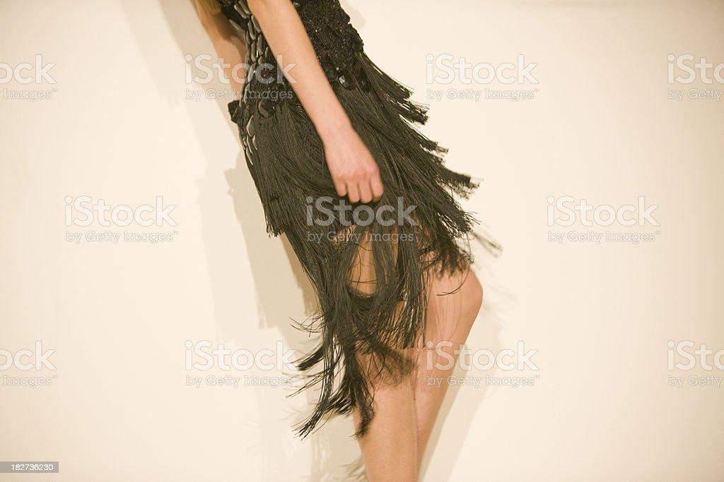 Model wearing flapper dress stock photo